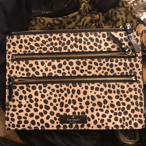 Authentic Kate Spade Leopard Jewelry Bag